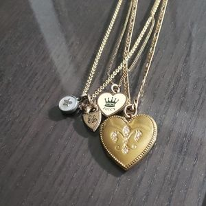 Gold Juicy Couture Multi Layered Necklace